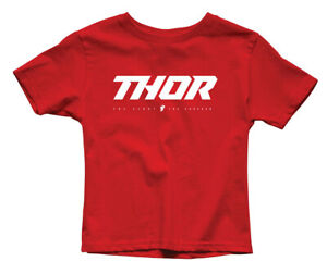 Thor MX Motocross Youth Loud 2 T-Shirt (Red) L (Large)