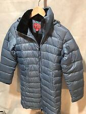 Eastern Mountain Sports Women's Extra Small Blue Puffer Long Coat Duck Down EUC