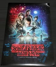 STRANGER THINGS CAST X10 SIGNED 24x36 SEASON 1 POSTER MILLIE AUTOGRAPH +JSA LOA