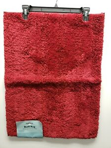 MOHAWK LUSTER STRIPE RED SEDONA BATH RUG 17 X 24
