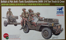 Bronco Models - 1/35 British (Airborne) 6pdr w/ 1/4Ton Truck & Crew # 35170