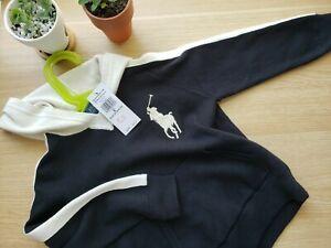 NWT-Polo Ralph Lauren boys big pony hoody sweater 4/4t 6 navy