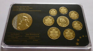 Monaco Euro Prestige Specimen Set 2012, Gold and Rhodium plated - Grace Kelly