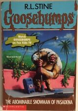 Goosebumps Book THE ABOMINABLE SNOWMAN OF PASADENA R.L. Stine Children's Books