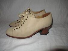 Platform Brogues Heel Charles David 70s Shoes Men Women 6.5 Mod Disco Leather