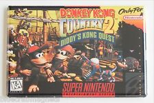 Donkey Kong Country 2 FRIDGE MAGNET (2 x 3 inches) video game box snes quest