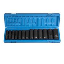 Grey Pneumatic 13 Pc 1/2'' Drive Deep Length SAE Socket Set - 1312D