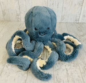 Jellycat Octopus STORM Blue Plush Stuffed Animal EUC