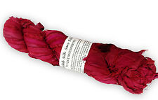 100g Recycled Sari Silk Ribbon Yarn, Jewelry Making Trim - Pink Mix