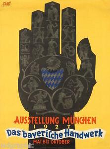 Bayerische Handwerk  1927 Vintage Gickele Canvas Print 18x24