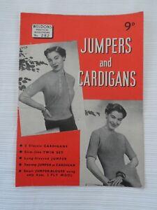 Original 1940's Knitting Patterns Jumpers & Cardigans  Weldons Practical 282