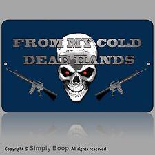 MAN CAVE 2nd Amendment Guns From My Cold Dead Hands Mancave Gun Store Blue