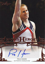 2013 LEAF SPORTS HEROES PAUL HAMM AUTO AUTHENTIC SIGNATURE #BA-PH1