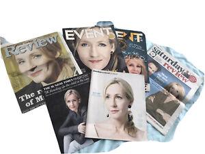 JK Rowling lotto riviste in  Inglese Perfette Alcune Hanno Piega Centrale Ottime