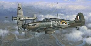 Limited Edition Aviation Print Height of the Battle by Philip E West (Hurricane)