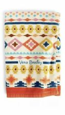 "Vera Bradley Ultimate Beach Towel with pillow 33""x 70"" Hacienda Cross Stitch NWT"
