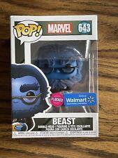 Funko Pop Marvel #643 Beast (Flocked Walmart Exclusive)