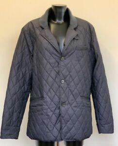 (SHP) Ted Baker Gents Dark Blue Quilted Coat Ted size 5 XL 42chest