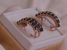 Sapphire Yellow Gold Fine Earrings
