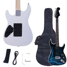ST Lightning Basswood Electric Guitar Maple Fingerboard +Bag Accessories White