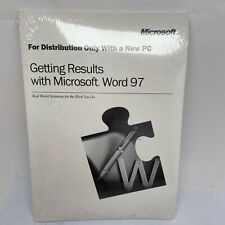 NEW - Microsoft Word 97 And Guide - PC