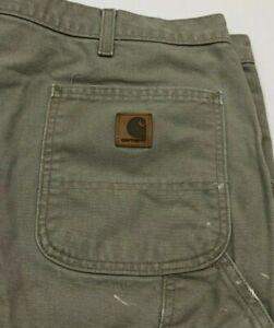 Carhartt Beige Tan Khaki Original Dungaree Fit Painters Pant Mens 42X30 RN 14806