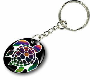 Keychain key keyring car motorcycles turtle scuba diver flag sea