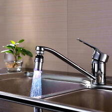 7Color Kitchen Water Faucet Tap LED Color Changing Light Durable Sink Bathroom