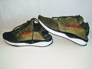 PUMA Mens Size 10 IGNITE Netfit Tsugi Olive Green Orange Sneakers