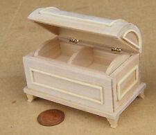 Escala 1:12 acabado natural de madera en el pecho tronco tumdee Casa de Muñecas en Miniatura 078