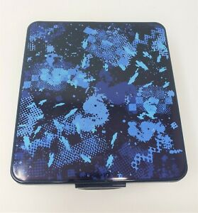 "Your Zone Plastic 8"" x 7"" Blue Rectangular Bento Box - Mosaic - New"