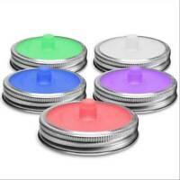 5Pcs Mason Jar Silicone Lids Kit Airlock Fermentation Lids for Sauerkraut Kimchi