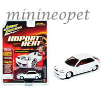 JOHNNY LIGHTNING JLCP7310 2000 HONDA CIVIC TYPE R 1/64 DIECAST MODEL CAR WHITE
