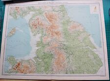 1922 LARGE ANTIQUE MAP- ENGLAND & WALES-NORTHERN SECTION