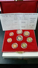 MONACO RAINIER III COFFRET OFFICIEL BE PROOF 8 PIECES 2€ à 1ct 2001 RARE