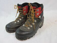 Vibram Trezeta Black & Red Leather Snow Boots Men's 13