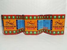 3 TIGER BALM RED OINTMENT FOR MUSCULAR ACHES AND PAINS 19.4 G EACH 12/2020
