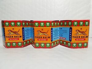 3 TIGER BALM RED OINTMENT FOR MUSCULAR ACHES AND PAINS 19.4 G EACH 12/2021