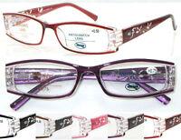 L441 Superb Quality Ladies Reading Glasses/Spring Hinges/Fashion Diamante Detail
