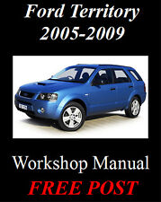 FORD TERRITORY 2005-2009 SY TX STX GHIA AWD / RWD WORKSHOP MANUAL DOWNLOAD