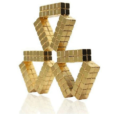 100216pcs Gold 5x5x5mm Square Rare Earth Neodymium Fasteners Craft Cube Magnets