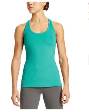 Mission Women's VaporActive Fuel Tank Top, Viridian Green, Medium