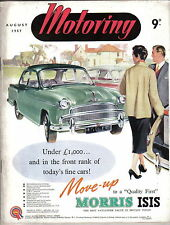 Motoring 8/57 Nuffield Mag Stirling Moss Morris Isis Police Car Morris Oxford II
