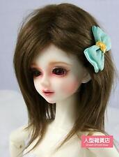 BJD doll wig 7-8 inch 18-20cm 1/4 BJD DOLL MSD Fur Wig Dollfie Brown M02