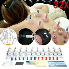 32pcs Cupping Vacuum Massage Cups Set Therapy Health Acupuncture Suction