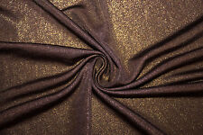 Brown Sparkles Venezia ITY 95% Polyester 5% Lycra Spandex Stretch Fabric BTY