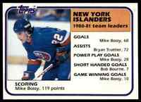 1981-82 TOPPS HOCKEY SET BREAK MIKE BOSSY NEW YORK ISLANDERS #57