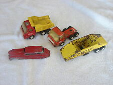Lot of 4 Vintage Metal Tonkas TOOTSIETOY Trucks and Road Equipment Vehicles