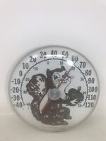 NOT WORKING VTG Original Jumbo Dial Squirrel Thermometer  Ohio Thermometer Co