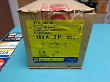 Brand New In Box Square D Fcl24100 Circuit Breaker W/ Line And Load Lugs< 00003629 /a>
